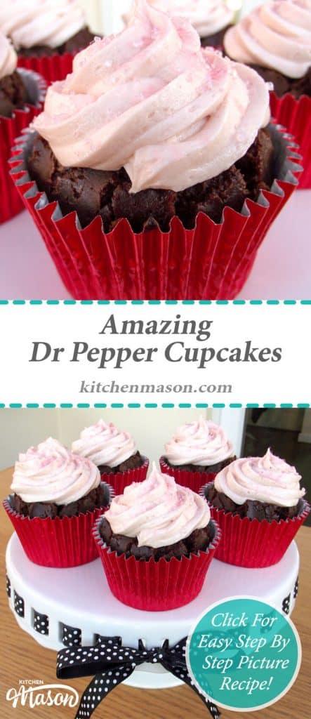 Amazing Dr Pepper Cupcakes   Cake   Chocolate   Cherry