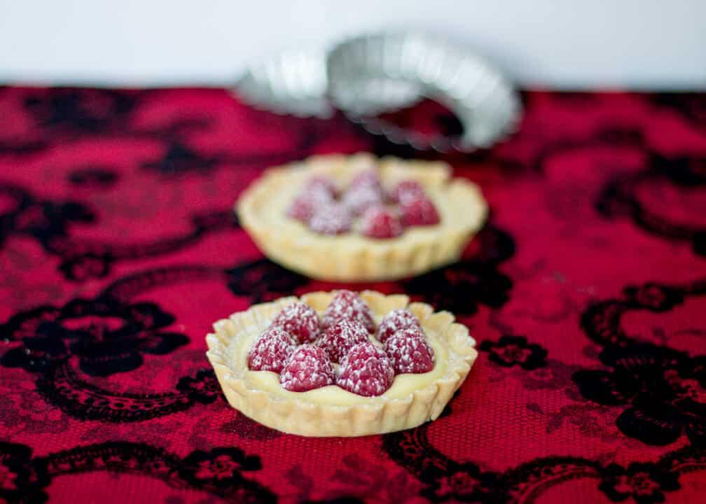 White Chocolate Raspberry Tartlets | Gluten Free | Tarts | Valentines Day