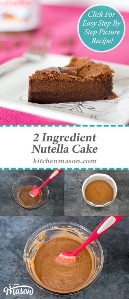 Nutella Cake | 2 Ingredient | Flourless | Gluten Free | Chocolate