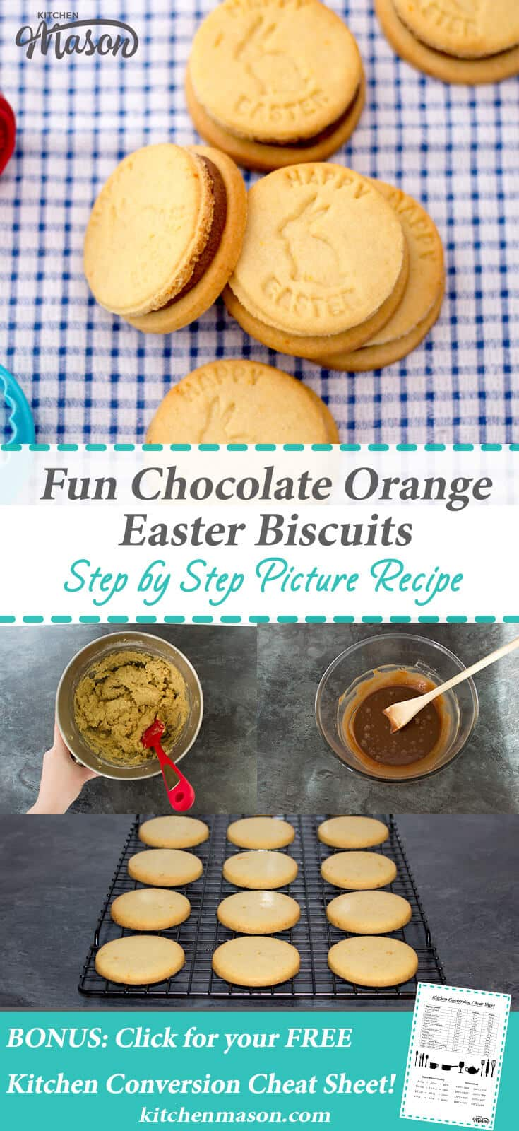 Fun Chocolate Orange Easter Biscuits | Cookies | Ganache