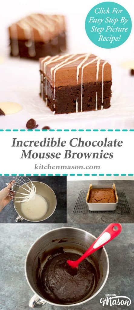 Incredible Chocolate Mousse Brownies | Gooey | Dessert