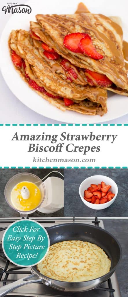 Biscoff Crepes | Nutella Crepes | Breakfast | Pancakes | Strawberries
