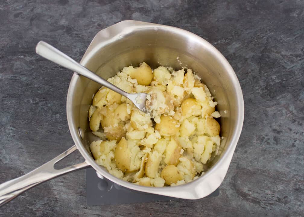 Easy Crushed Baby Potatoes | Potato | Sides | Garlic