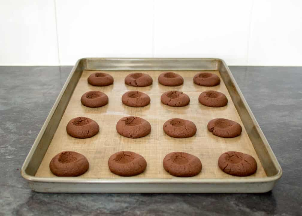 Mint Chocolate Thumbprint Cookies   Easy   Quick   Christmas