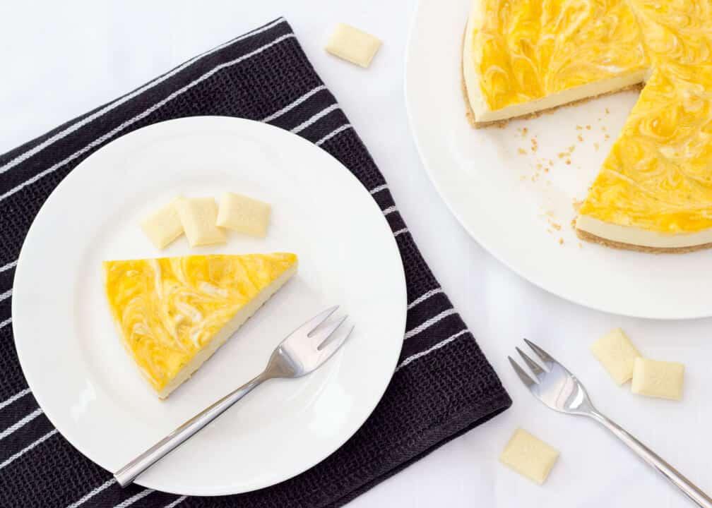 Mango & White Chocolate Cheesecake | No Bake | Easy | Refreshing