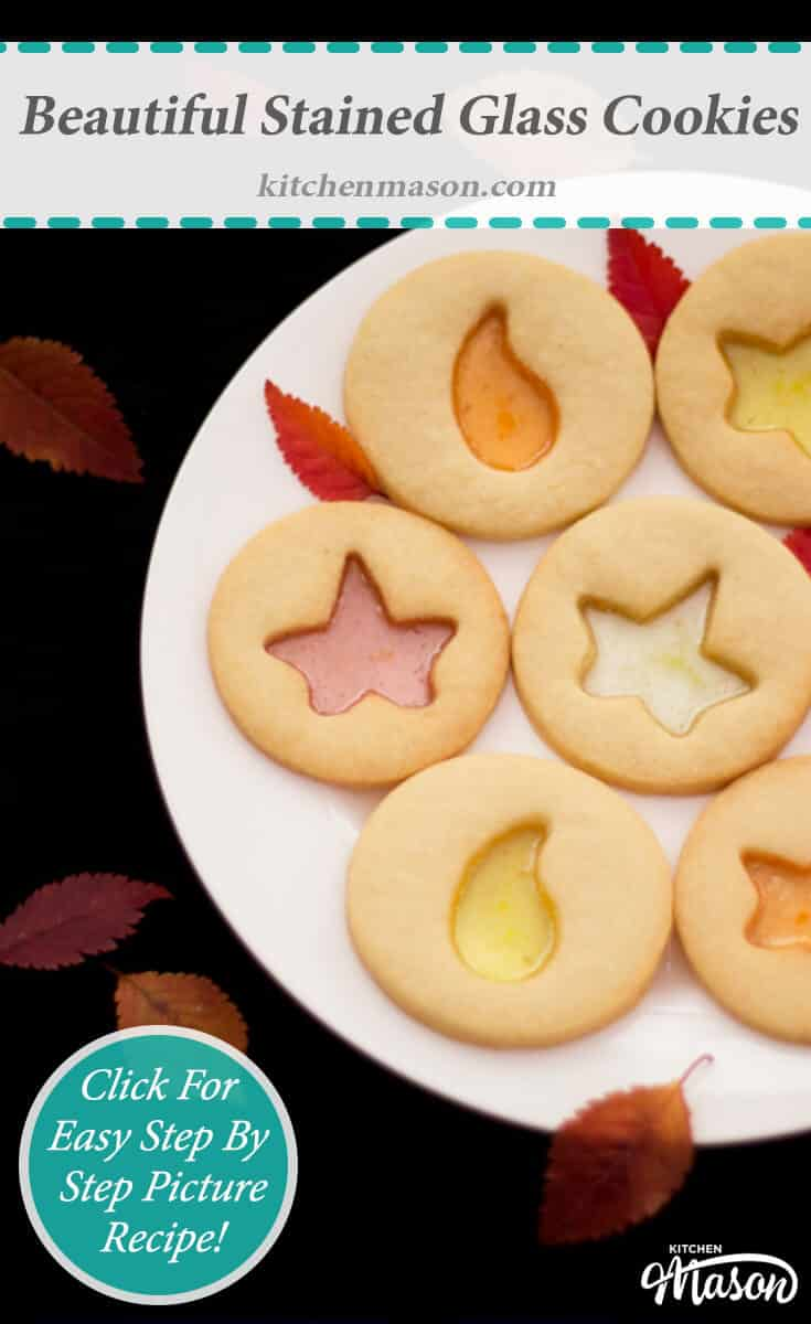 Stained Glass Cookies Beautiful Candy Fall Easy Christmas