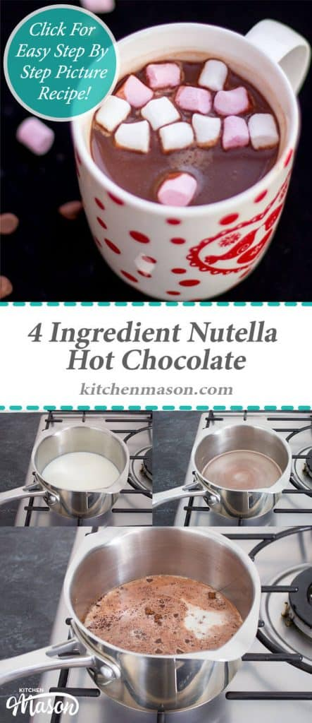 Nutella Hot Chocolate | Winter | 4 Ingredient | Chocolate