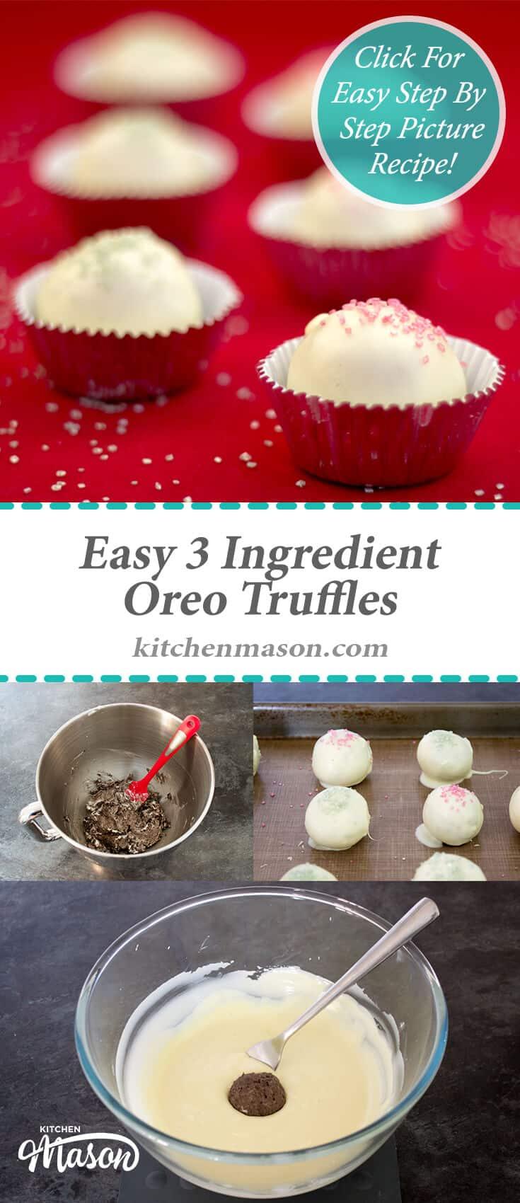 Easy 3 Ingredient Oreo Truffles White Chocolate Christmas Gift