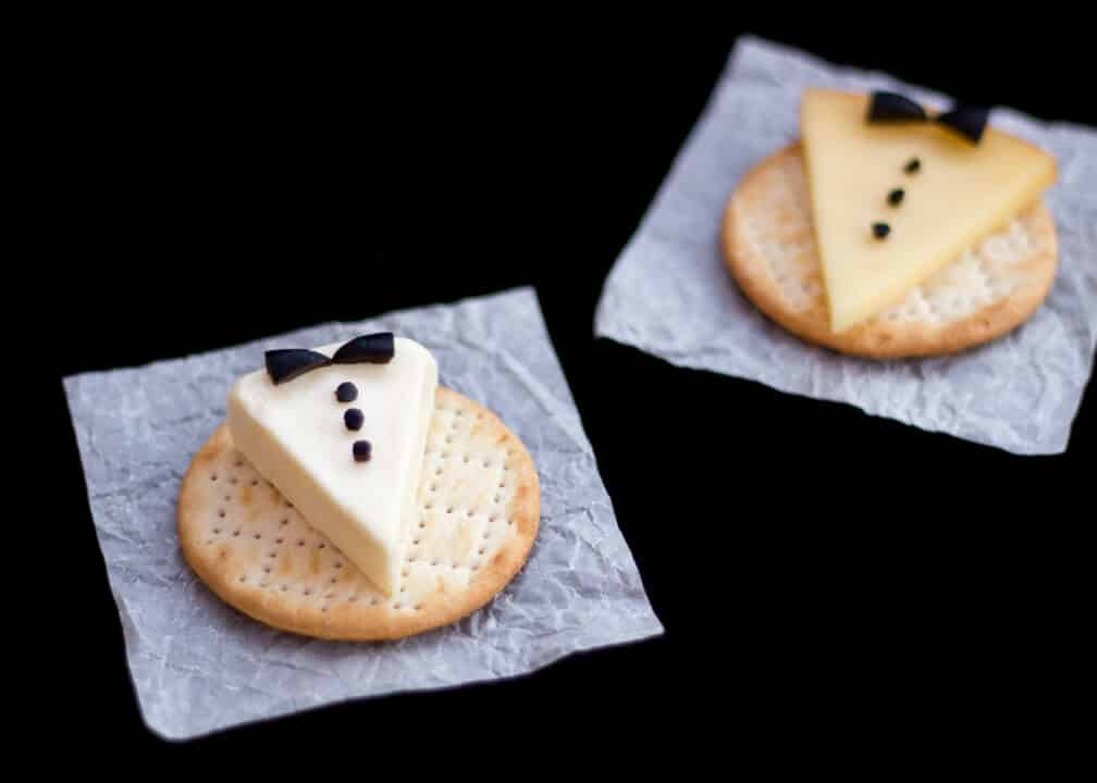 Tuxedo Cheese & Crackers | Cute | Party Food | Christmas | New Year