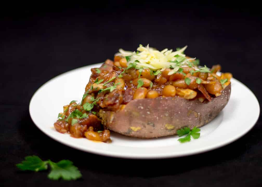 Baked Sweet Potato | Homemade Baked Beans | Healthy | Comfort Food