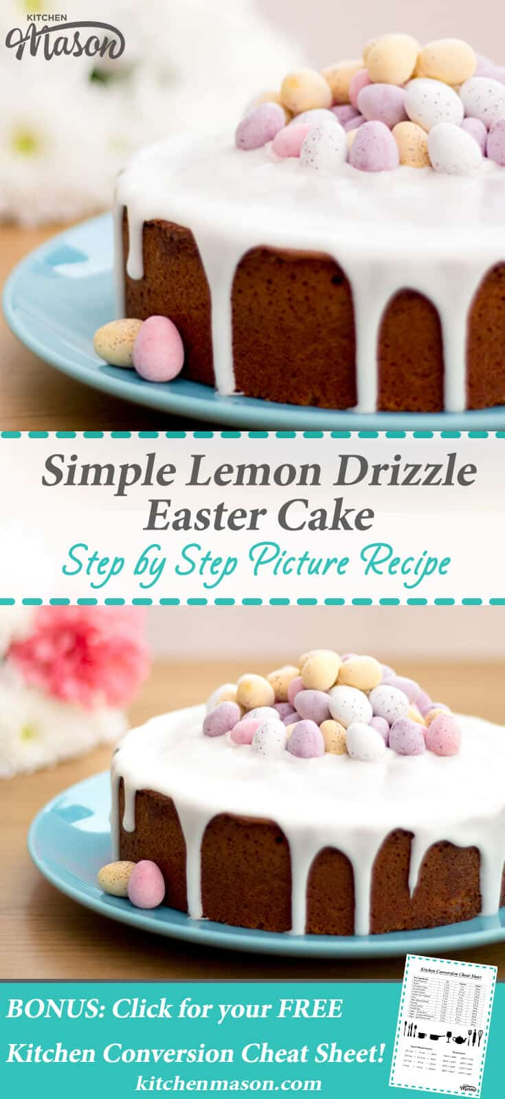 Lemon Drizzle Easter Cake Mini Egg Easy Lemon Cake