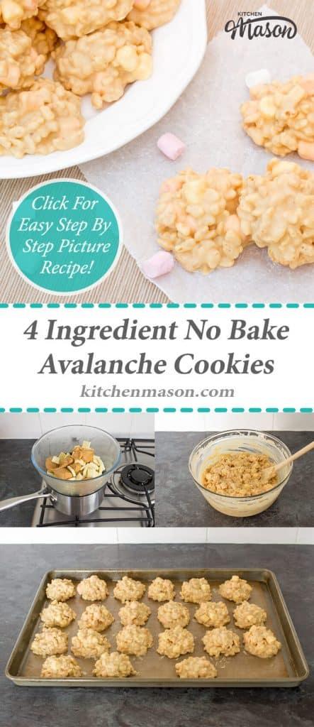 Avalanche Cookies | 4 Ingredient | No Bake | Peanut Butter | Rice Krispies