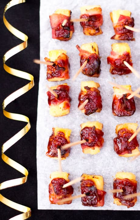 Bbq Bacon Pineapple Bites Party Food Easy Christmas
