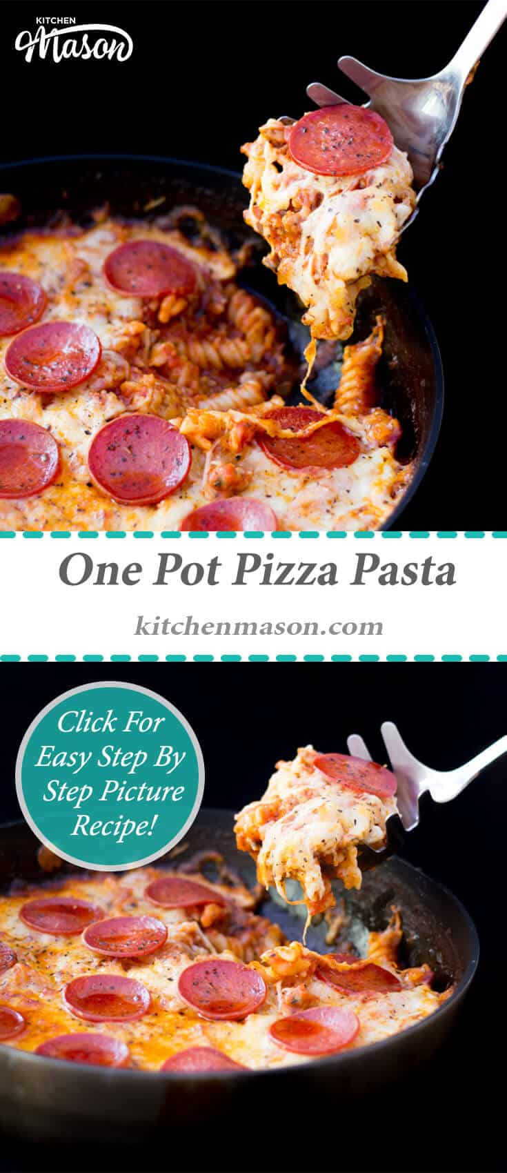 Pizza Pasta | One Pot | One Pan | Easy | Quick | Tomato | Simple