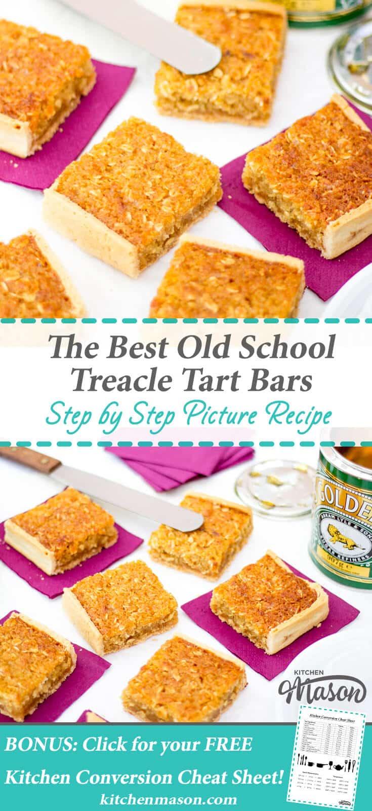 Treacle Tart | The Best | School | Bars | Traybake | Golden Syrup