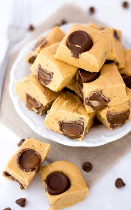 4 Ingredient Rolo Caramel Fudge   No Bake   Homemade Gift