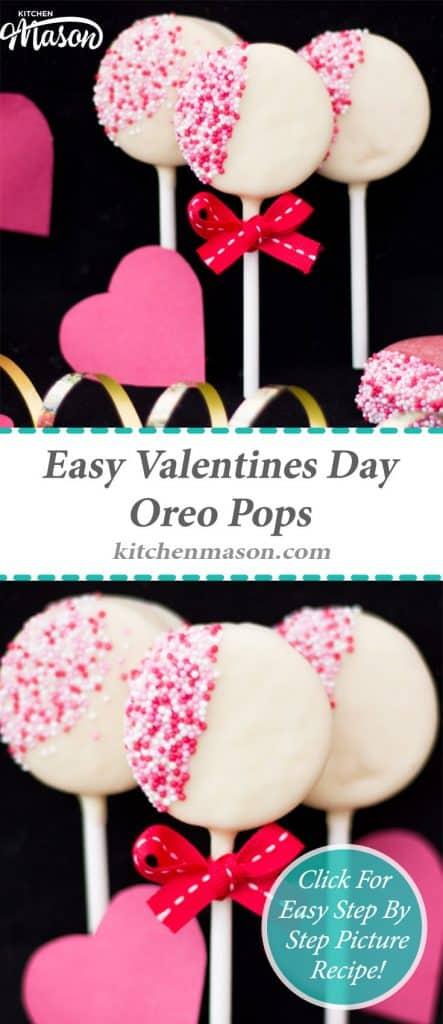 Valentines Day Oreo Pops | Easy | Chocolate | Homemade | Lollipops