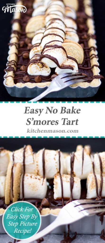S'mores Tart | No Bake | Easy | Golden Oreo | Chocolate | Marshmallow