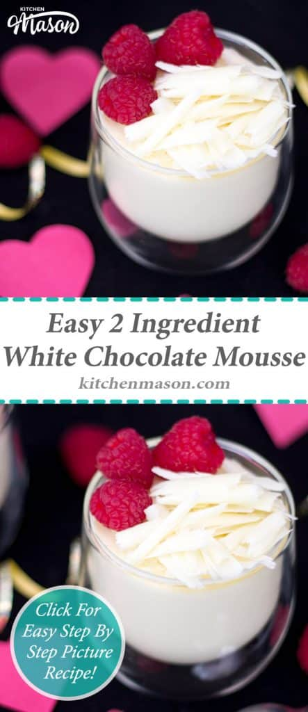 White Chocolate Mousse | 2 Ingredient | Valentines Day | Easy