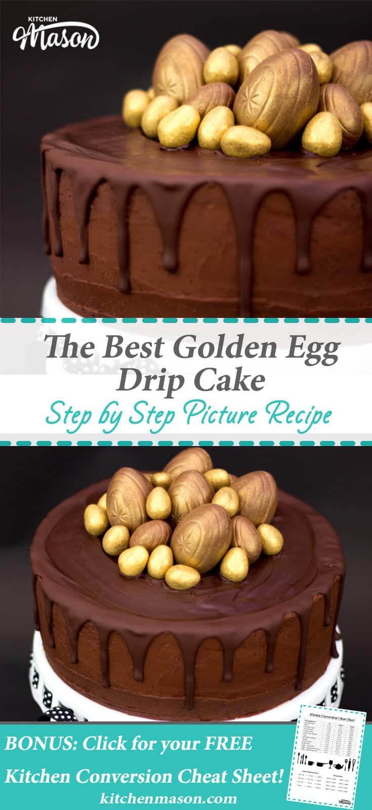 Golden Egg Drip Cake Easter Chocolate Cake Creme Egg Best