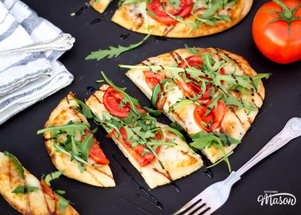 Naan Pizza   15 min   Tomato   Mozzarella   Quick   Bread   Speedy