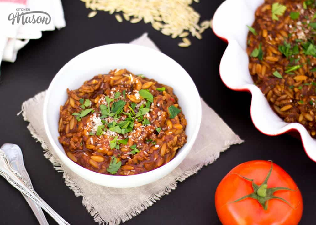 One Pot Orzo Bolognese | Easy | Beef Mince | Pasta | Quick