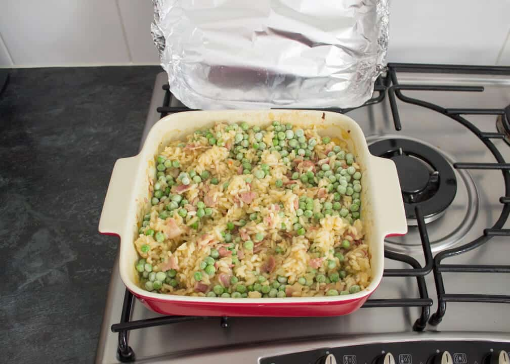 Oven Baked Risotto | One Pot Risotto Recipe | Easy Risotto Recipe | Bacon